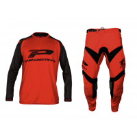 Progrip 6010/7010-18 Adult Motocross Pants + Shirt Red-Black