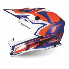 Progrip 3009/19 Youth ABS Motocross Helmet Orange-Blue