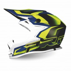 Progrip 3009/19 Youth ABS Motocross Helmet Fluorescent-Yellow-Dark Blue