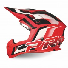 Progrip 3180 ABS Motocross Helmet Red-White