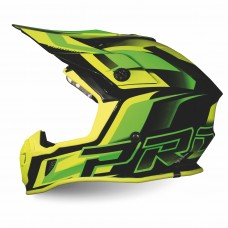Progrip 3180 ABS Motocross Helmet Green-Yellow