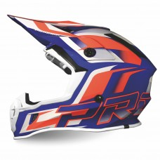 Progrip 3180 ABS Motocross Helmet Orange-Blue