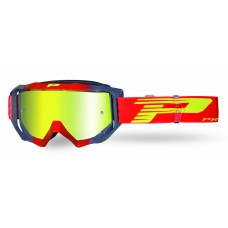 Progrip 3200/19/FL Venom Motocross Goggles Red-Grey