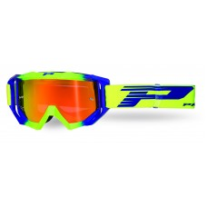 Progrip 3200/19/FL Venom Motocross Goggles Flo Yellow-Electric Blue