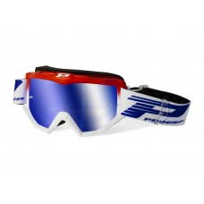 Progrip 3201/FL Atzaki Motocross Goggles Red/White with Multilayered Lens
