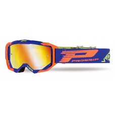 Progrip 3303 FL Vista Goggles with Mirrored Lens - Blue/Orange