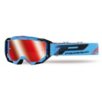 Progrip 3303 FL Vista Goggles with Mirrored Lens - Turquoise/Black