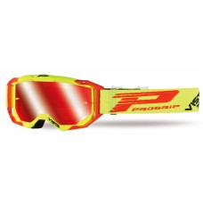 Progrip 3303 FL Vista Goggles with Mirrored Lens - Flo Yellow