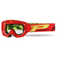 Progrip 3303 TR Vista Goggles with Clear Lens- Red