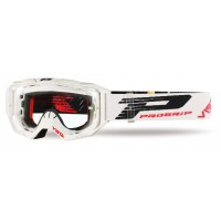 Progrip 3303 TR Vista Goggles with Clear Lens- White