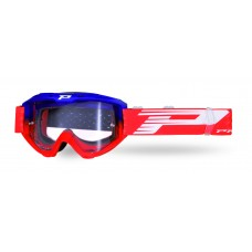 Progrip 3450 Riot Motocross Goggles with Light Sensitive Lens Blue-Red Frame