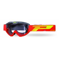 Progrip 3450 Riot Motocross Goggles with Light Sensitive Lens Grey-Red