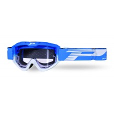 Progrip 3450 Riot Motocross Goggles with Light Sensitive Lens Blue-White