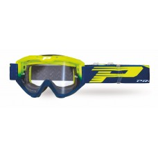 Progrip 3450 Riot Motocross Goggles with Light Sensitive Lens Flo Yellow-Navy Blue