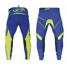 Progrip 6010-19 Adult Motocross Pants Electric Blue - Flo Yellow
