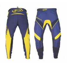 Progrip 6010-19 Adult Motocross Pants Navy Blue-Yellow