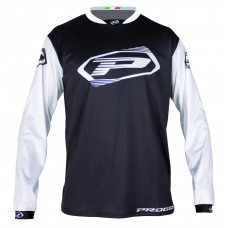 Progrip 7010-19 Adult Motocross Shirt Black-White