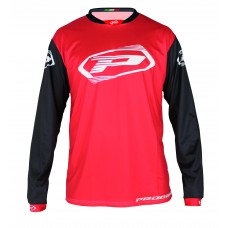 Progrip 7010-19 Adult Motocross Shirt Red-Black