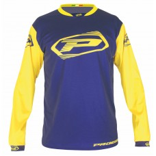Progrip 7010-19 Adult Motocross Shirt Navy Blue-Yellow