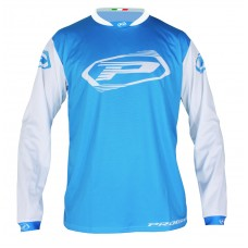 Progrip 7010-19 Adult Motocross Shirt Light Blue-White