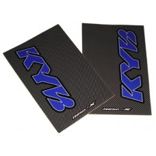 Tecno-X Carbon KYB Upper Fork Stickers Blue/White