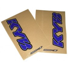 Tecno-X Clear KYB Upper Fork Stickers Blue/White