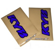 Tecno-X Clear KYB Upper Fork Stickers Blue