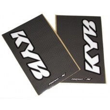 Tecno-X Carbon KYB Upper Fork Stickers White