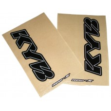 Tecno-X Clear KYB Upper Fork Stickers Black
