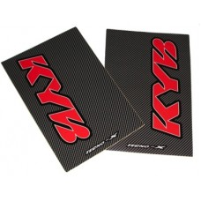 Tecno-X Carbon KYB Upper Fork Stickers Red