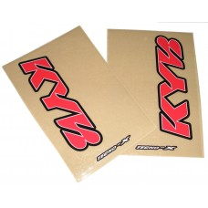 Tecno-X Clear KYB Upper Fork Stickers Red