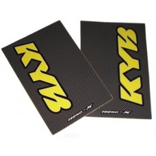 Tecno-X Carbon KYB Upper Fork Stickers Yellow