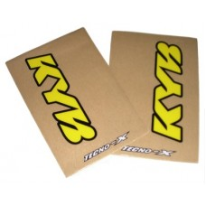 Tecno-X Clear KYB Upper Fork Stickers Yellow