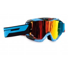 Progrip 3450 Multilayered Mirrored Motocross Goggles Blue-Black